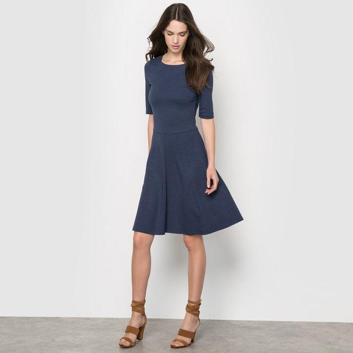 Image Short-Sleeved Skater Dress ESPRIT