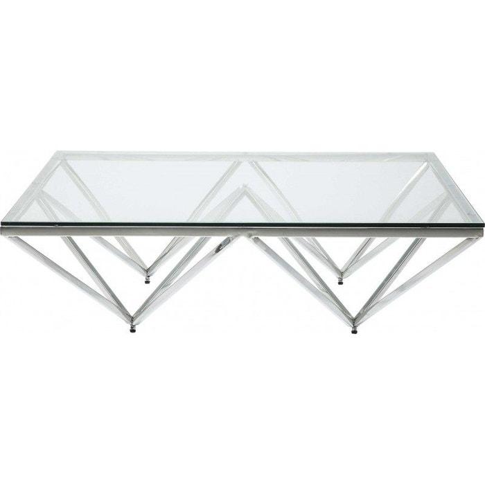 Table Basse Network Chromée 105x105cm Kare Design Gris Kare Design