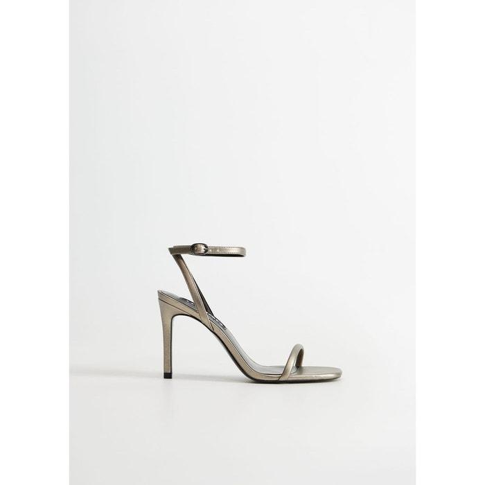 Sandales métallisées bride
