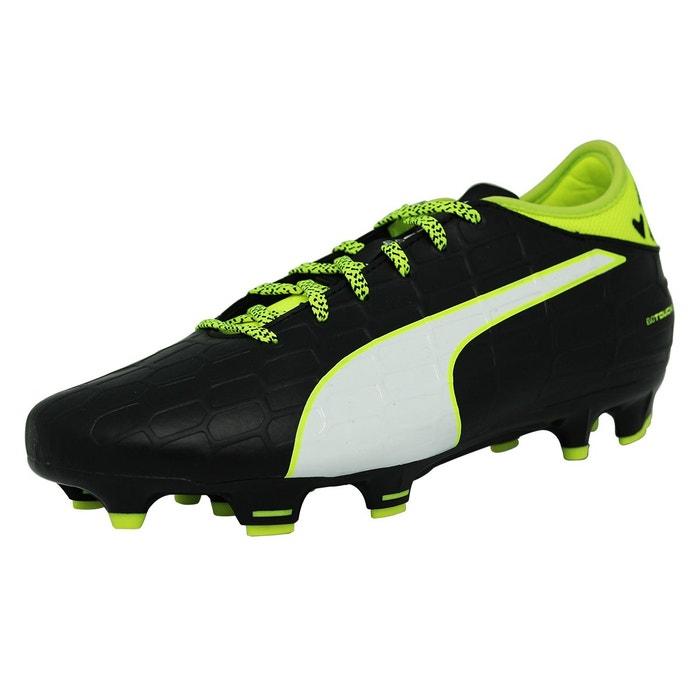 Puma EVOTOUCH 3 FG Chaussures de Football Homme Noir Blanc Jaune noir - Chaussures Football Homme