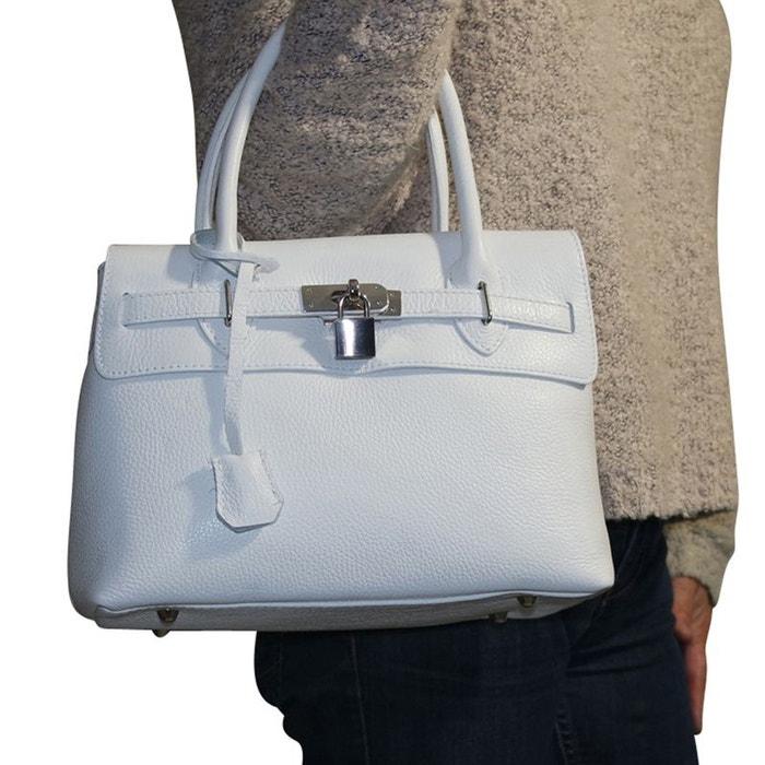 14e36dec5c Sac à main cuir blanc blanc Chapeau-Tendance | La Redoute