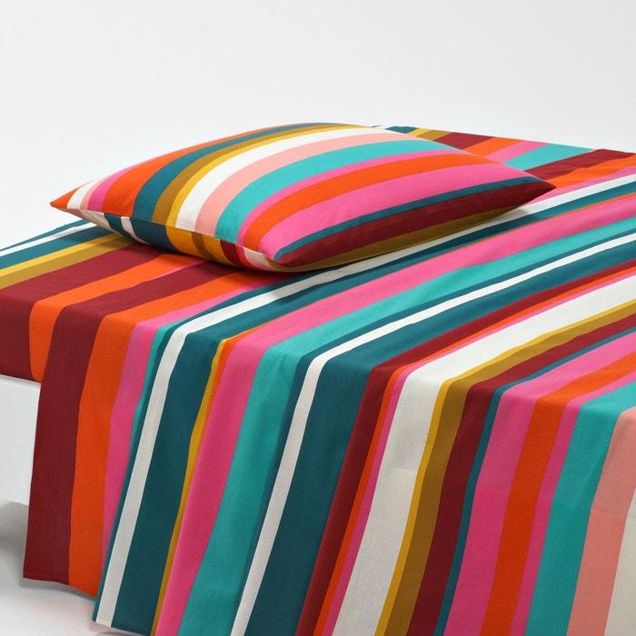 drap coton paraiso orange rose turquoise jaune la redoute interieurs la redoute. Black Bedroom Furniture Sets. Home Design Ideas