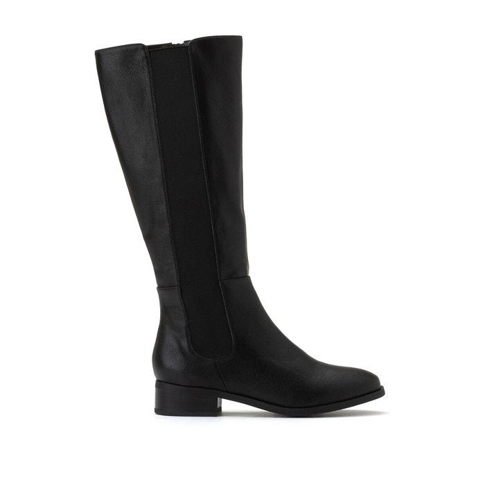 Flat knee-high boots black La Redoute
