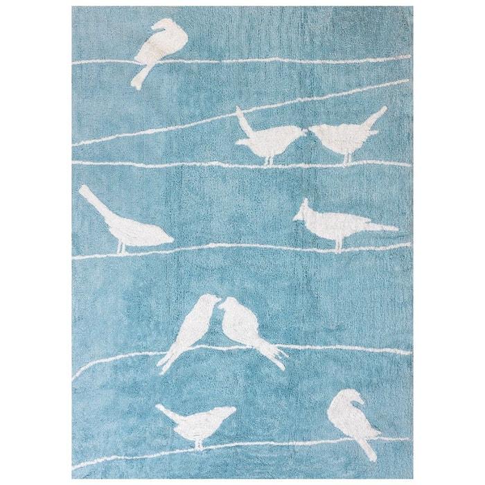 tapis enfant coton oiseaux bleu ciel bleu ciel lilipouce la redoute. Black Bedroom Furniture Sets. Home Design Ideas