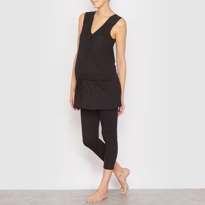 pyjama de grossesse et allaitement noir la redoute maternit la redoute. Black Bedroom Furniture Sets. Home Design Ideas