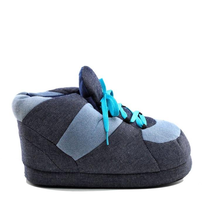 Bleu Lacet Redoute Sleeperz Chaussons Basket La Denim Style gIA8n