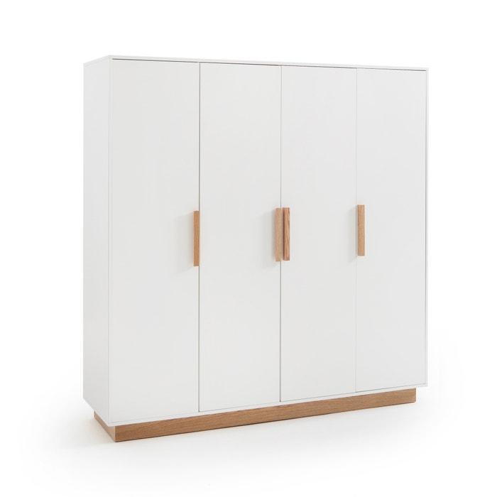 Armoire 4 portes, fabi La Redoute Interieurs blanc | La Redoute