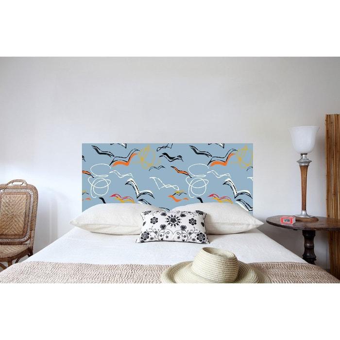 t te de lit en tissu go lands fixer au mur sans support en bois multicolore mademoiselle. Black Bedroom Furniture Sets. Home Design Ideas