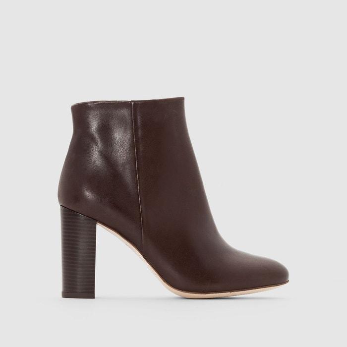 Boots cuir à talon La Redoute Collections