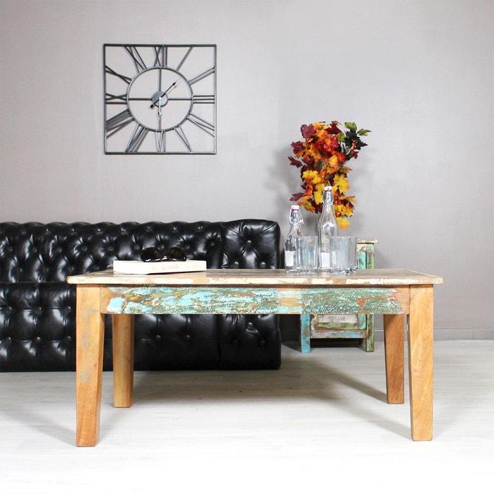 table basse bois massif color mk52 bois color made in meubles la redoute. Black Bedroom Furniture Sets. Home Design Ideas