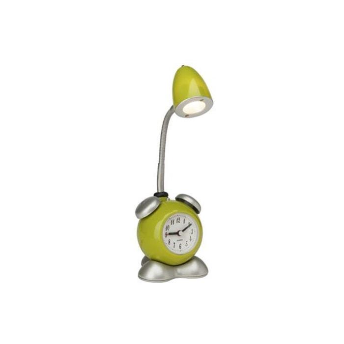 lampe de chevet avec horloge pharrell 1x1 5w led int gr e. Black Bedroom Furniture Sets. Home Design Ideas
