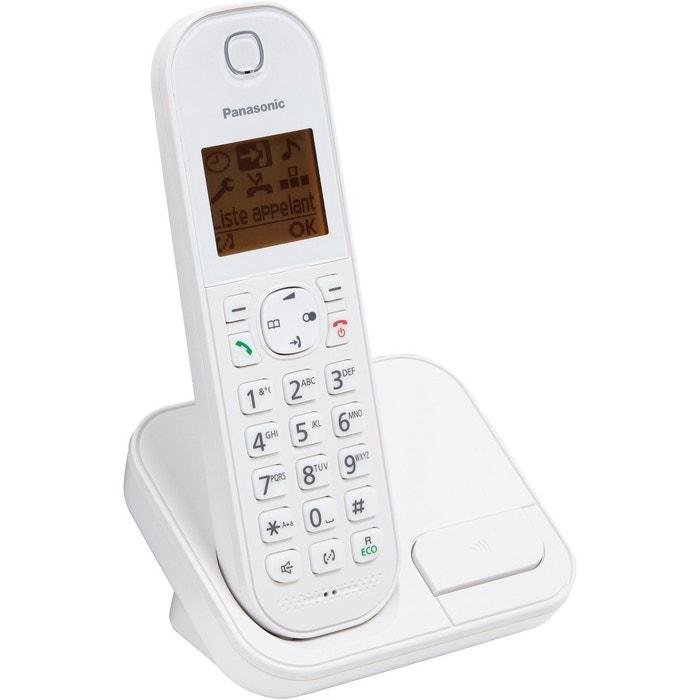 T l phone sans fil panasonic kx tgc410 blanc panasonic la redoute - La redoute telephone gratuit ...