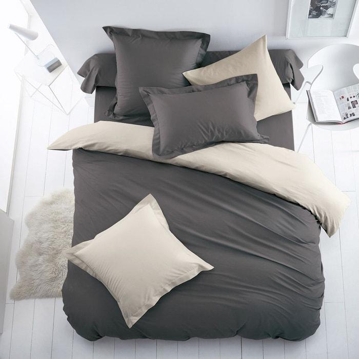 Housse de couette bicolore coton polyester scenario la for La redoute housse de couette bicolore