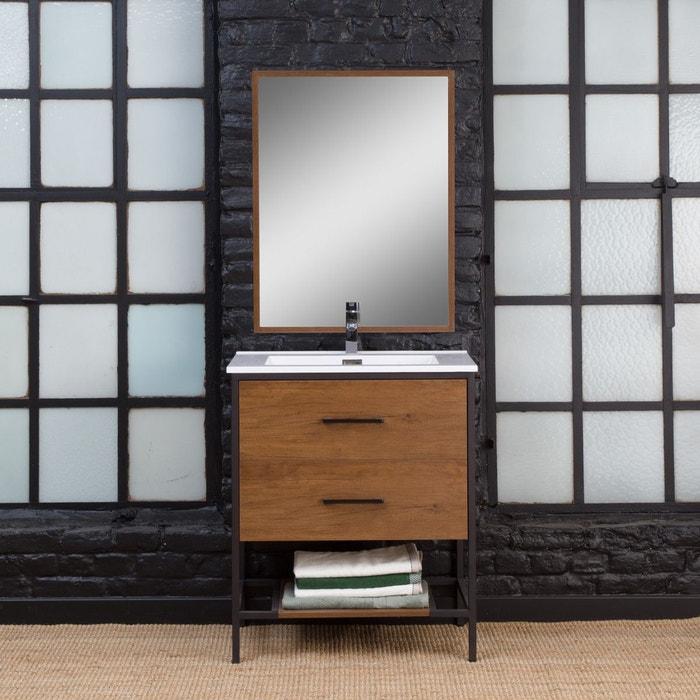Meuble salle de bain industriel 2 tiroirs, 1 vasque - petit modèle | MG7MEUB