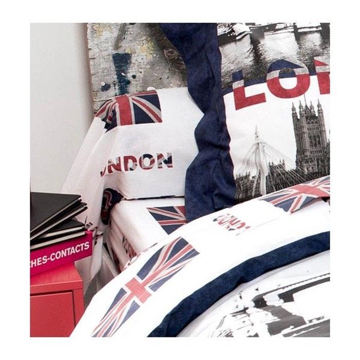 parure de draps 5 pi ces london blanc ultramarine home maison la redoute. Black Bedroom Furniture Sets. Home Design Ideas
