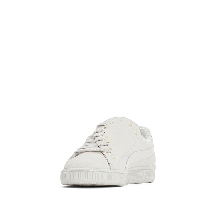 dd0323b4db5 Baskets cuir suede crush studs Puma blanc