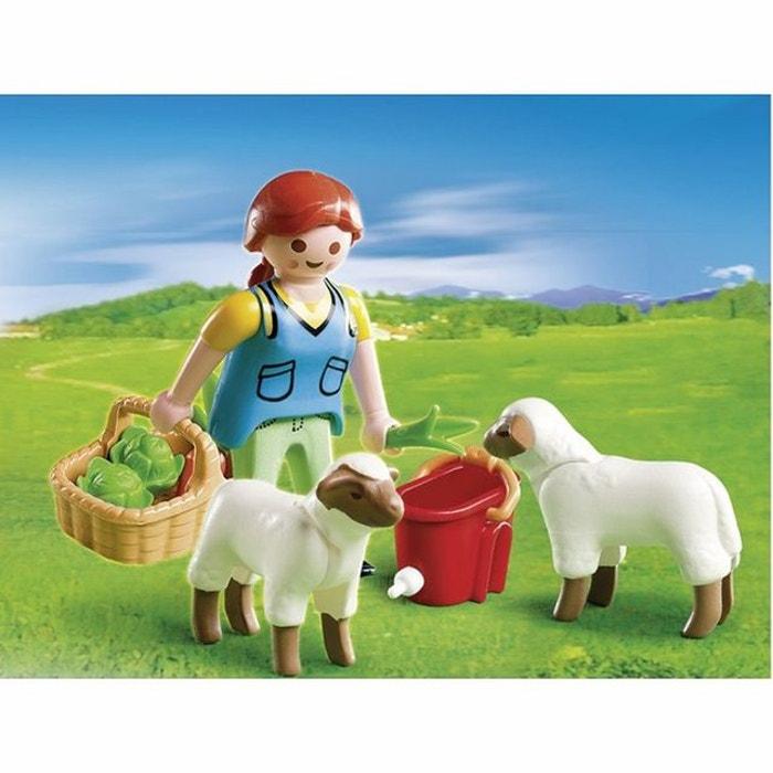 Agricultrice avec moutons pla4765 multicolore playmobil la redoute - La redoute playmobil ...