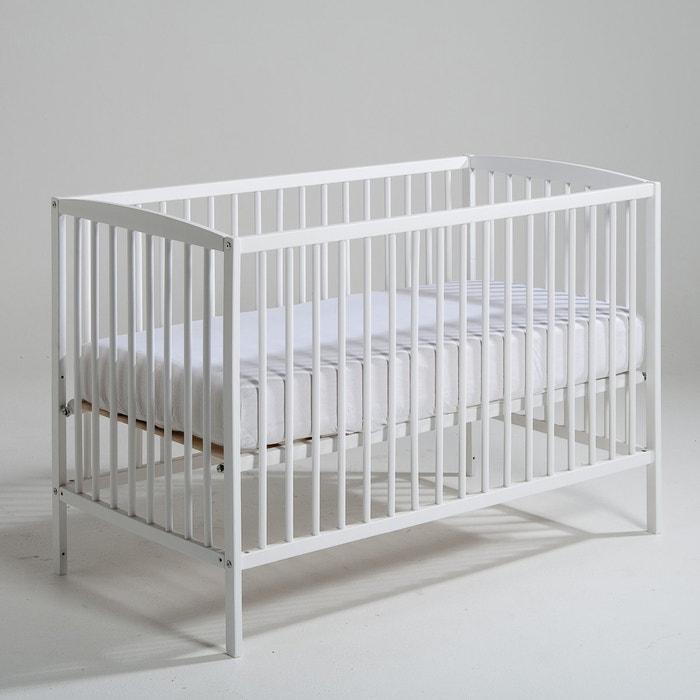 Image Lit bébé à sommier modulable 2 hauteurs, Tellie La Redoute Interieurs