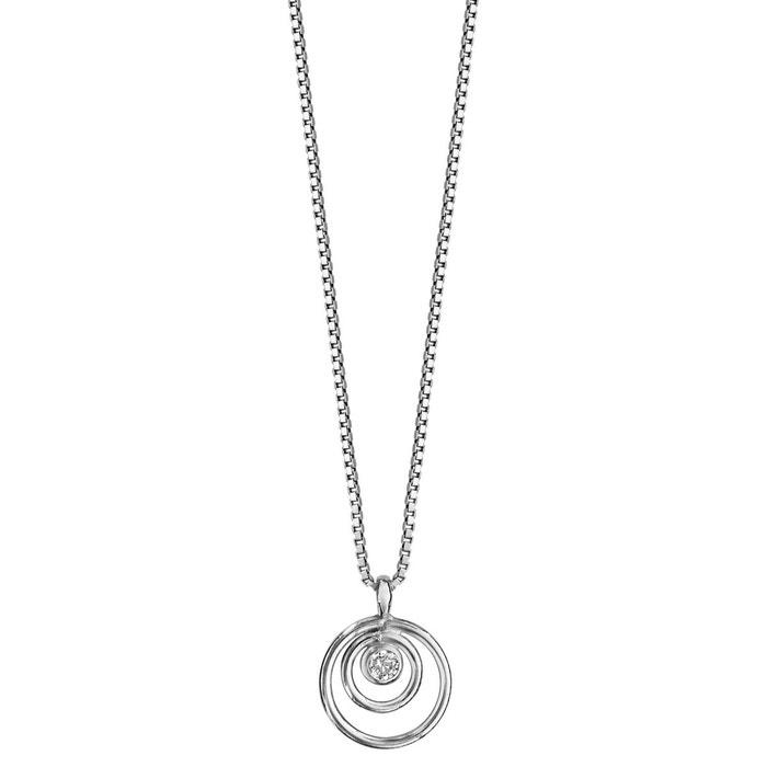 212e505b4650b Collier longueur réglable  41,5 à 44 cm spirale blanc argent 925 So Chic  Bijoux   La Redoute