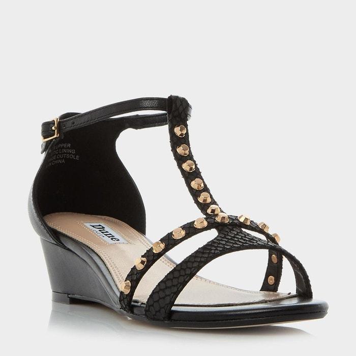 Sandales compensées cloutées - khala Dune London