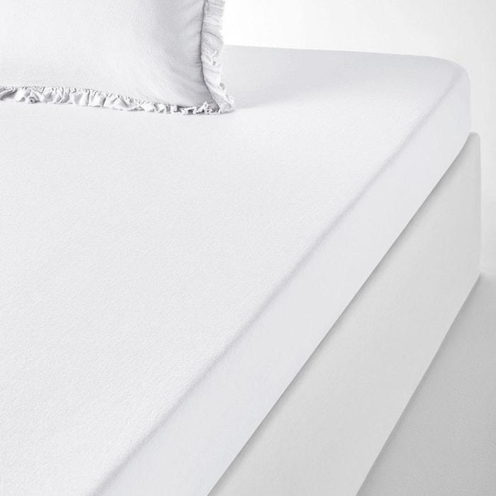 drap housse uni lin et coton nillow la redoute interieurs la redoute. Black Bedroom Furniture Sets. Home Design Ideas