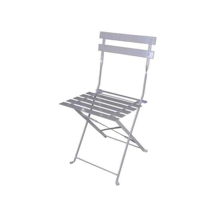 chaise de jardin m tal pliante camargue taupe couleur unique hesperide la redoute. Black Bedroom Furniture Sets. Home Design Ideas