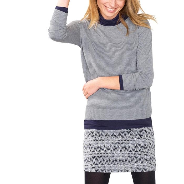 afbeelding Trui in fijn tricot met ronde hals ESPRIT