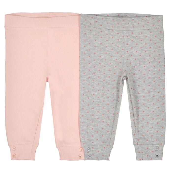 Lote de 2 leggings de algodón, 0 meses - 2 años  La Redoute Collections image 0