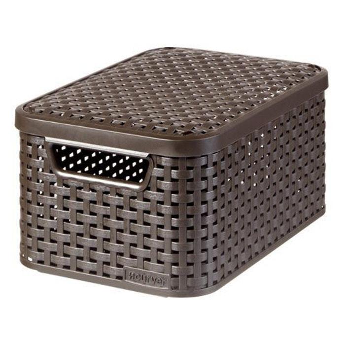 panier de rangement avec couvercle style s curver marron curver la redoute. Black Bedroom Furniture Sets. Home Design Ideas