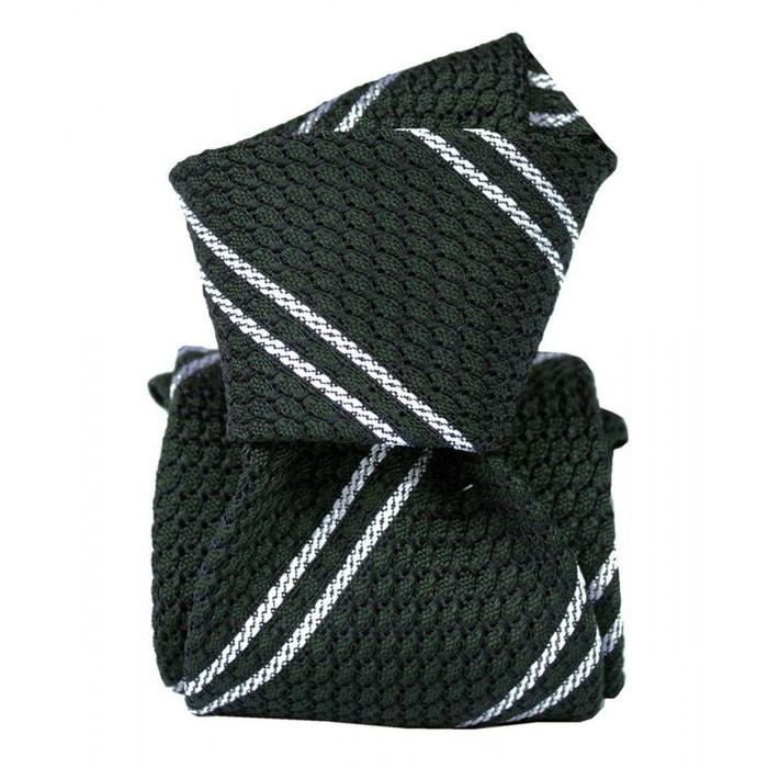 Cravate grenadine de soie, segni & disegni, club 03 vert Segni Et Disegni | La Redoute