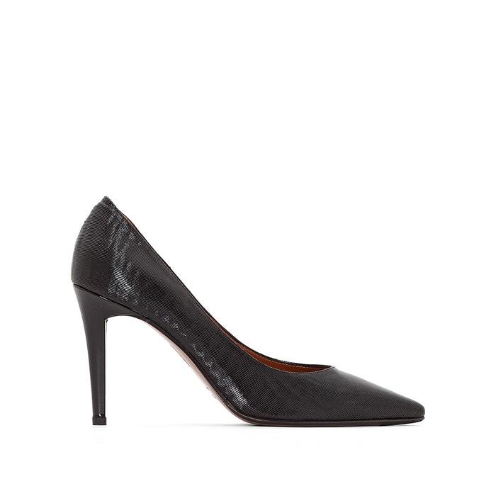Carlie Leather Stiletto Heels  HEYRAUD image 0