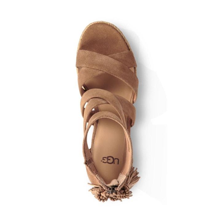 bf3bab520ce Sandales compensées cuir raquel noisette Ugg - idahobirthservices.com