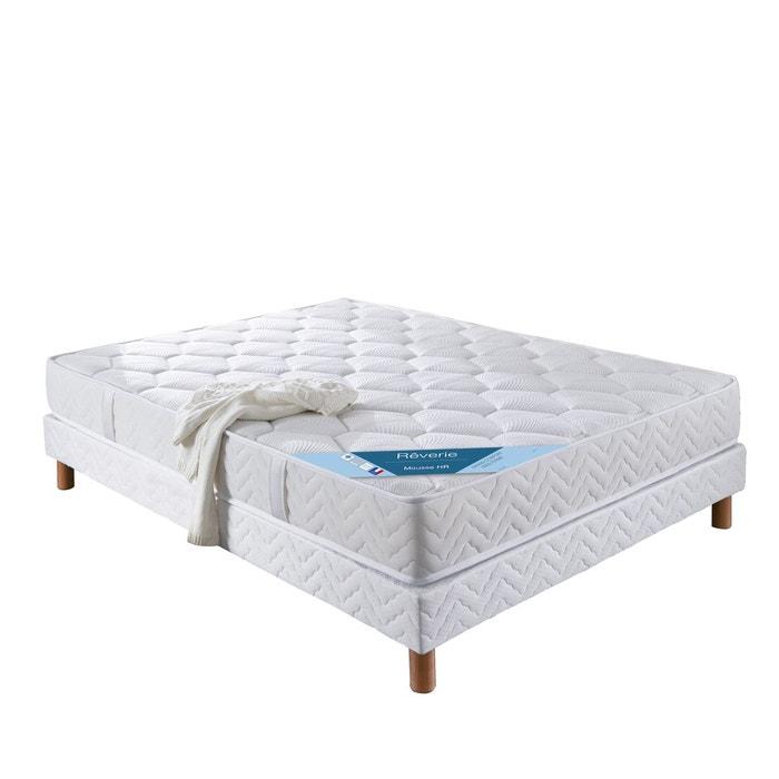 matelas mousse haute r silience confort ferme blanc reverie la redoute. Black Bedroom Furniture Sets. Home Design Ideas