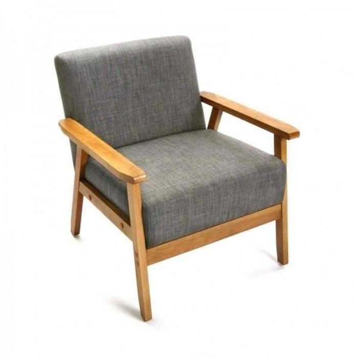 fauteuil vintage r tro lin clair et versa gris versa la redoute. Black Bedroom Furniture Sets. Home Design Ideas