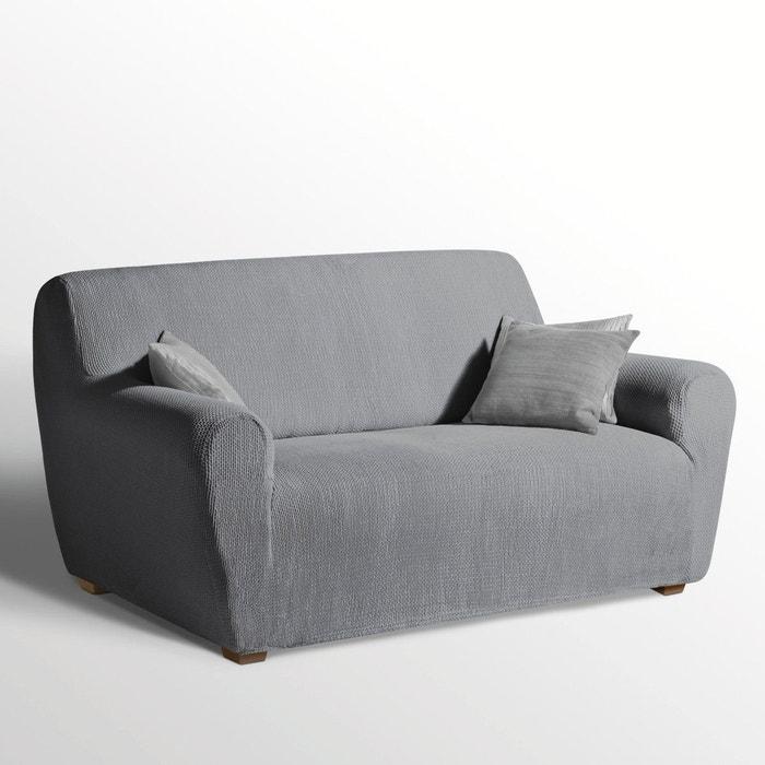 Housse extensible pour fauteuil et canap ahmis la redoute - Housse canape 3 places extensible ...