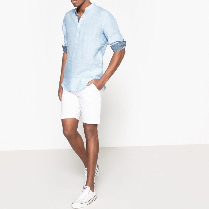 de y cuello Camisa Collections Redoute tunecino slim La lino 4Y6IqBnx