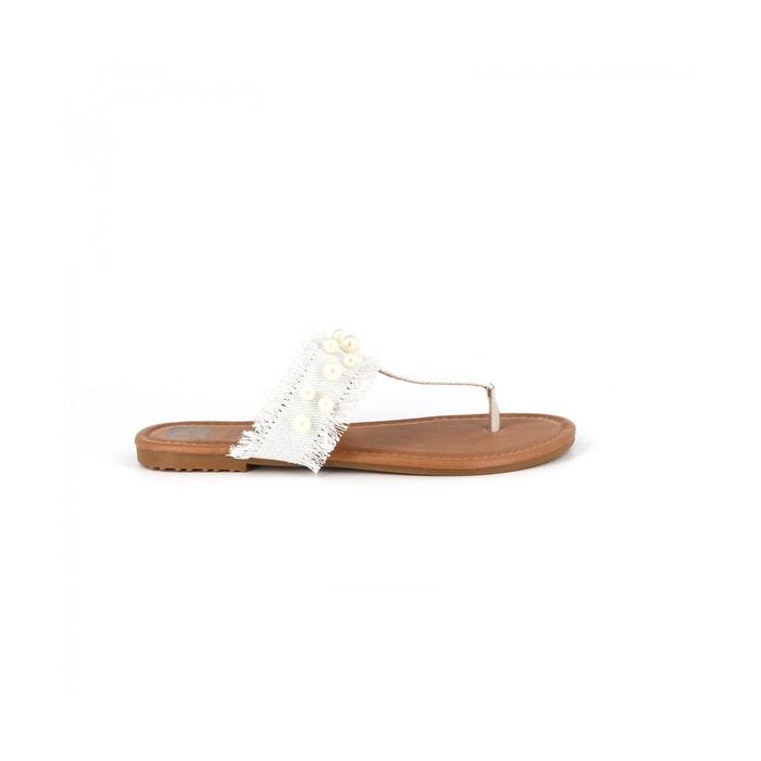 Cassis Côte D'azur Tongs denim BRODY Rouge - Chaussures Sandale Femme