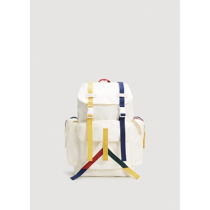 Acheter Pas Cher Dernière Sac à dos poches lanières colorées blanc cassé Mango Man | La Redoute Prix À La Vente Dédouanement Prix Pas Cher LrevEET