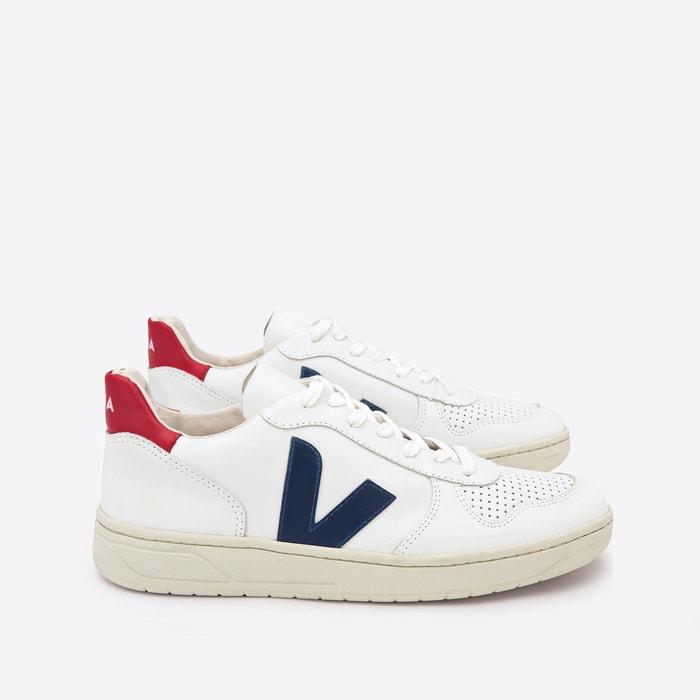 Salón Saltar Abiertamente  V-10 leather trainers , white, Veja | La Redoute