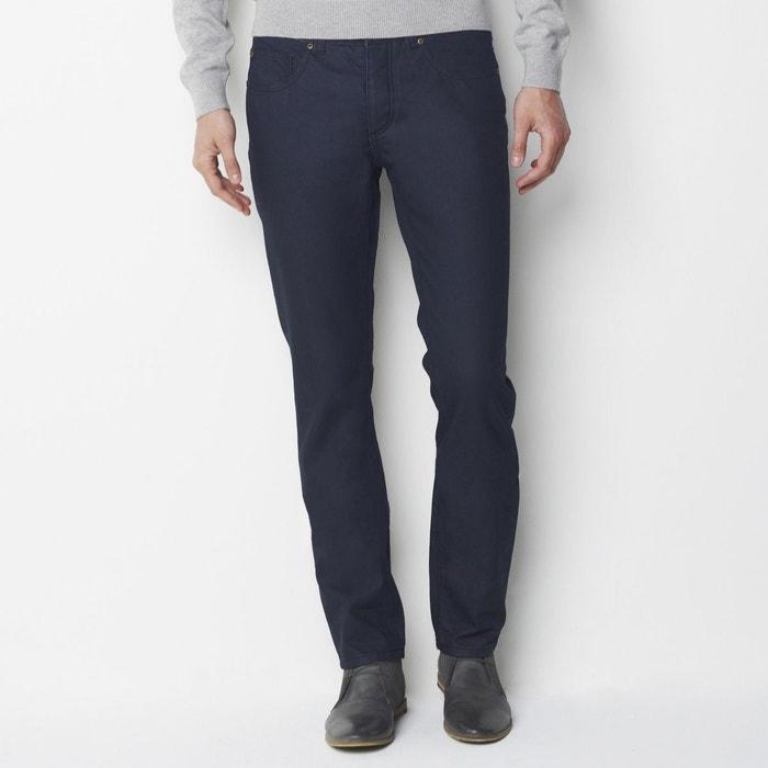 Image Jean straight (droit), coton enduit, long.34 R essentiel