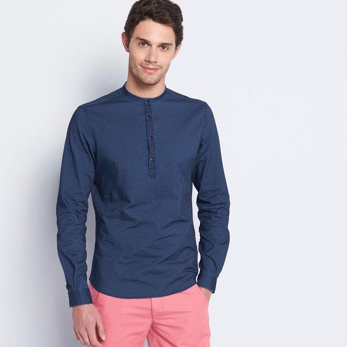 chemise homme casual unie bleu indigo devred la redoute. Black Bedroom Furniture Sets. Home Design Ideas