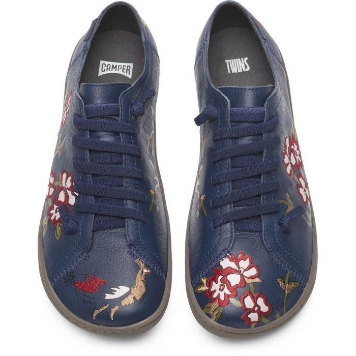 Camper Chaussures Plates Femme K200517001 Ebe9ydh2iw Twins Bleu thQrsd