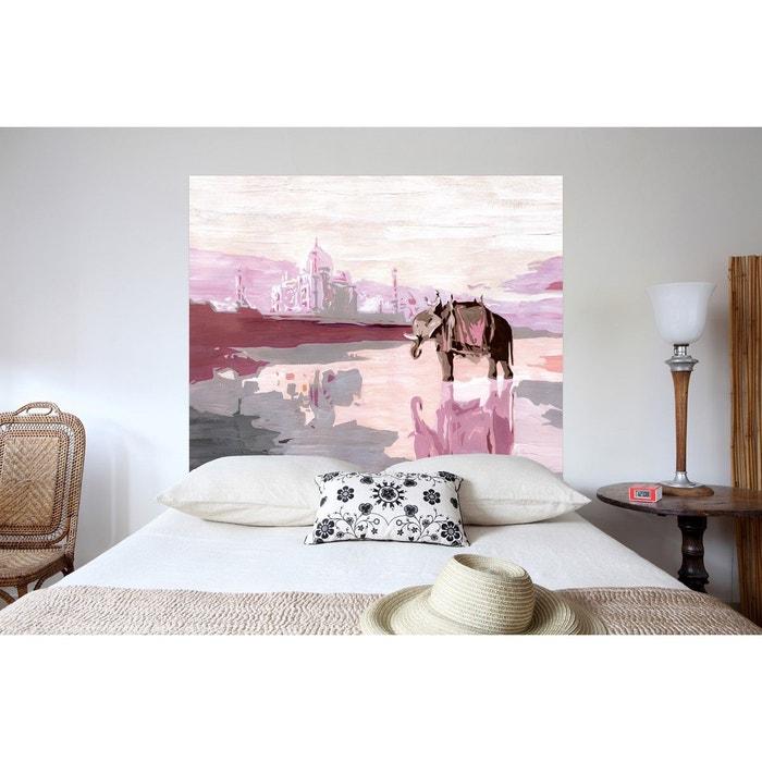 t te de lit en tissu palais indien fixer au mur sans support en bois multicolore mademoiselle. Black Bedroom Furniture Sets. Home Design Ideas