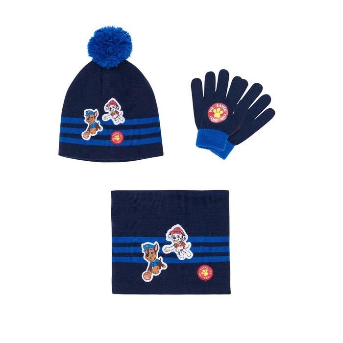 Ensemble 3 pièces   un col tube, bonnet et gants bleu marine Pat Patrouille    La Redoute a01477c203e
