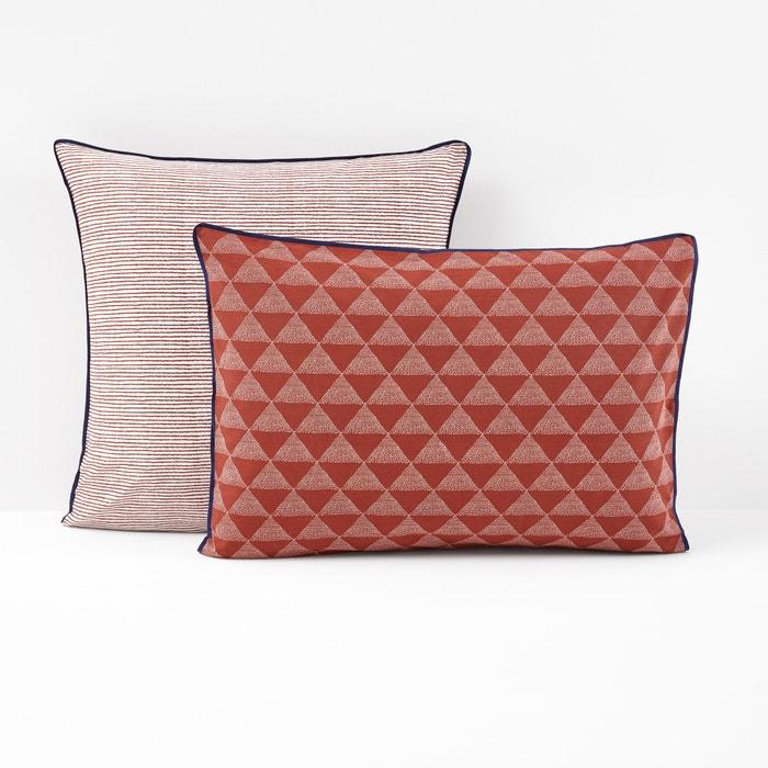 Image Taie d'oreiller, coloris terracotta, Issor La Redoute Interieurs