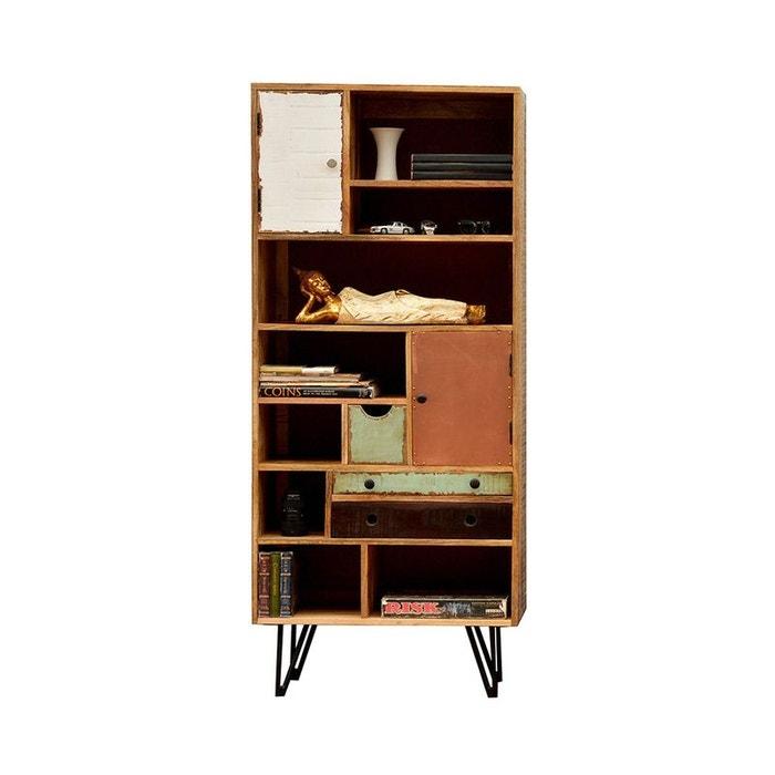 Biblioth que vintage en bois fusion bois m tal drawer la - La redoute meuble bibliotheque ...
