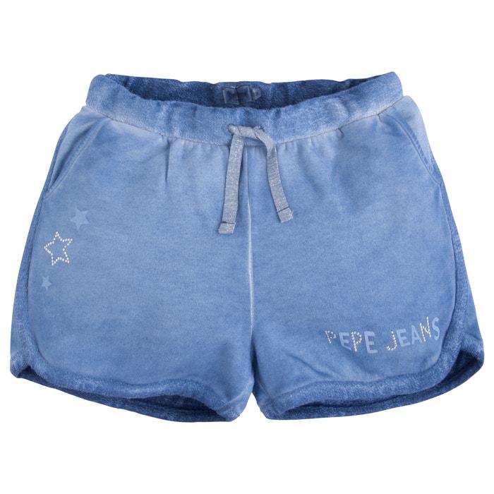 shorts blue pepe jeans la redoute. Black Bedroom Furniture Sets. Home Design Ideas