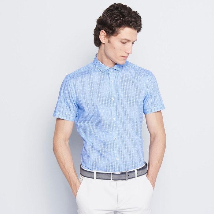 chemise homme ville imprim bleu azur devred la redoute. Black Bedroom Furniture Sets. Home Design Ideas