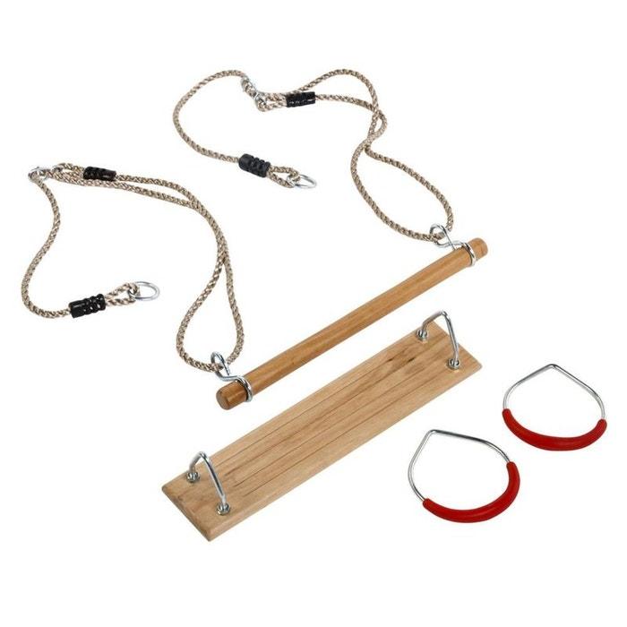 kit 3 accessoires balan oire anneaux de gym trap ze naturel kbt la redoute. Black Bedroom Furniture Sets. Home Design Ideas