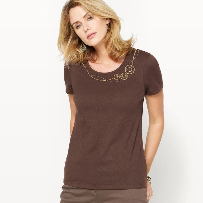 Image T-shirt, pur coton peigné ANNE WEYBURN